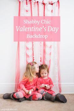 DIY Shabby Chic Valentine's Day Backdrop
