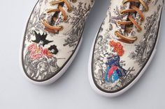 Embroidered Toile Sneakers
