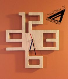 Beautiful local maple, this clock has a sleek, modern design perfect for any room. Finished clear and measures about Wall Clock Design, Wood Clocks, Diy Home Decor On A Budget, Wood Design, Modern Design, Wood Toys, Into The Woods, Diy Furniture, Modern Wood Furniture