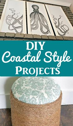 Coastal Style DIY Projects 2019 Check out these fun Coastal Style DIY Projects! The post Coastal Style DIY Projects 2019 appeared first on Vintage ideas. Beach Cottage Style, Beach House Decor, Coastal Style, Coastal Decor, Ocean Home Decor, Beach Condo, Handmade Home Decor, Unique Home Decor, Vintage Home Decor