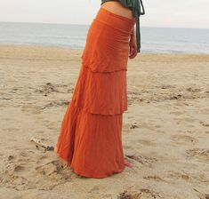 Fountain Long Skirt light hemp/organic cotton by gaiaconceptions