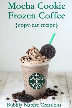 10 Fabulous Coffee Recipes- Mocha Cookie Frozen Coffee