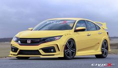 The Honda Civic Type R has been confirmed for the US. The new Civic Sedan was introduced only weeks ago Honda Civic Si, Honda Civic Forum, Honda Civic Coupe, Honda Civic Hatchback, New Honda, Honda S2000, Honda Type R, Best Cars For Teens, Honda Cars
