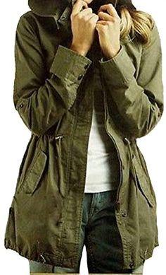 Ideal4dress Women's Lady Hoodie Drawstring Army Green Trench Jacket Coat Jumper ideal4dress http://www.amazon.com/dp/B00N9X5EGU/ref=cm_sw_r_pi_dp_cHQCub18S3R2J
