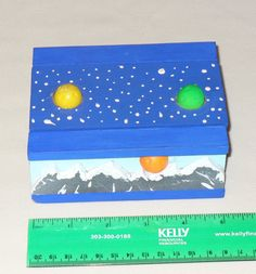 Mountains and Planets Box by CustomBox on Etsy, $25.00