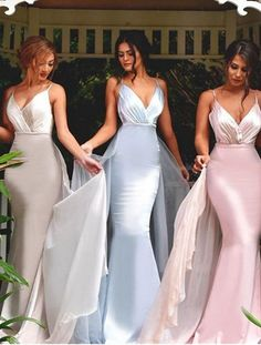 V-neck Bridesmaid Dresses,Mermaid Bridesmaid Dress,Sexy bridesmaid dress,Unique bridesmaid dress, Wedding Party