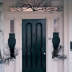 Who needs lions to guard the door—we've got owls!