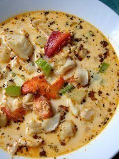 Beaucoup Seafood Chowder Got plans for the weekend? Make this chowder instead. It will be worth it. You can always make new friends. I've been eating this chowder since forever. Rosie Beaucoup has always made it. Crab Chowder, Chowder Soup, Chowder Recipes, Sea Food Chowder, Best Seafood Chowder Recipe, Fish Recipes, Seafood Recipes, Cooking Recipes, Cookbook Recipes