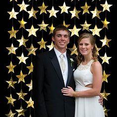 Gold Die Cut Star Curtain