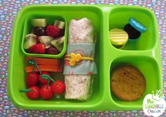 Goodbyn kids lunch. Honeywraps reusable sandwich wrap, lunchbox, food picks, mini containers and silicone wrap band all available in New Zealand from www.thelunchboxqueen.co.nz