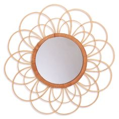 A mirror by Kidsdepot with bamboo details. The mirror is cm, bamboo frame incl mirror is 45 cm. A little loop on the back of the mirror to stick it to your wall. Rattan, Childrens Mirrors, Book Ledge, Flower Mirror, African Theme, Support Mural, Gift Coupons, Baby Jogger, Gift Store