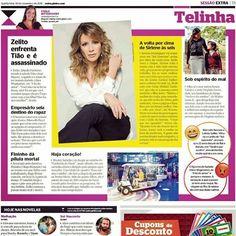 """Hoje no """"abre"""" da coluna da Carla Bittencourt do Jornal Extra... Sirlene ta voltando com tudo semana que vem galeraaaaa!!!!!! ☀️ #SolNascente #Sirlene #SirleneemArraial #nãopercam"""
