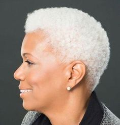 all white natural hair TWA Silver Grey Hair, Gray Hair, Black Hair, Lux Hair, Silver Haired Beauties, Short Afro, Short Grey Hair, Ageless Beauty, We Are The World