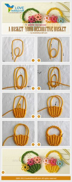 How to make a basket--your decorative basket