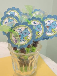 Monsters Inc Party favor blue by POPSnMORE on Etsy, $16.00