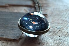 Solar system necklace pendantPlanet necklace Galaxy