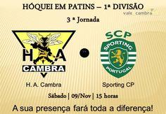 Hóquei em Patins: 1.ª Divisão *HA Cambra vs  Sporting CP* > 9 Novembro 2013 -15h00 @ Pavilhão Municipal, Vale de Cambra #ValeDeCambra #hoqueiempatins