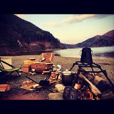 #キャンプ #西湖