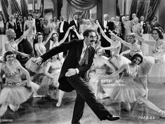 Groucho Marx dances with the Corps de Ballet in a scene from the film Duck Soup. Duck Soup, Groucho Marx, Harpo Marx, Turner Classic Movies, Classic Films, Funny Movies, Old Movies, Iconic Movies, Margaret Dumont