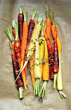 Colored Carrots - beautiful food style