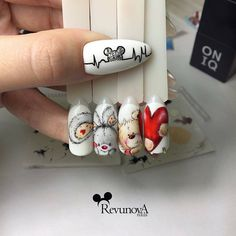 Про Ногти (МК,материалы для ногтей)Nails PRO™ nail art design gallerynail designs for short nails 2019 self adhesive nail stickers nail art sticker stencils full nail stickers Love Nails, Pretty Nails, Fun Nails, Xmas Nails, Christmas Nails, Mickey Nails, Valentine Nail Art, Short Nails Art, Nagel Gel