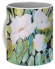 Wild Roses Coffee Mug by Sabina Von Arx Mugs For Sale, Creative Colour, Unique Coffee Mugs, Basic Colors, Painting Techniques, Color Show, Colorful Backgrounds, Fine Art America, Roses