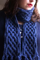 Free Pattern: Celtique scarf by collete audrey