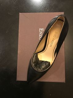 401e0f806c1 Enzo Angiolini Eaterasa 7.5 Black Leather Pumps  fashion  clothing  shoes   accessories  womensshoes  heels (ebay link)