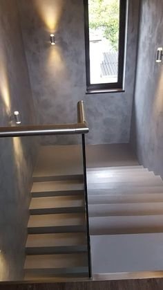 Home Stairs Design, Interior Stairs, Bathroom Interior Design, House Design, Staircase Lighting Ideas, Stairway Lighting, Stairs Cladding, Skylight Design, Glass Stairs
