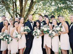 blush + black bridal party | Landon Jacob #wedding