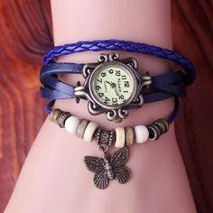 Hand Made Woven Women's Retro Trend Bracelet Watches