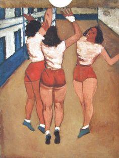 """Jerzy Nowosielski, """"Koszykarki"""" (1950)"""