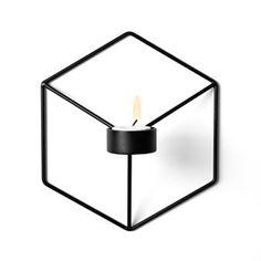POV-kynttilänjalka seinä - musta - Menu