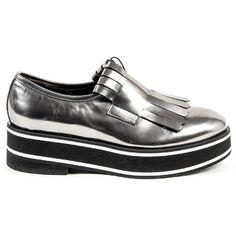 V 1969 Italia Womens Oxford Fringe Shoe A234 LUX ANTRACITE