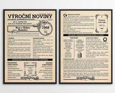 Retro-noviny r. Bullet Journal, Retro, Gifts, Presents, Favors, Retro Illustration, Gift
