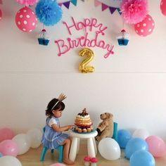 余った毛糸を有効活用!海外で注目のウールレター20選 – 編み物ブログ.com Simple Birthday Decorations, Diy Birthday Banner, 2nd Birthday Party Themes, Birthday Goals, Birthday Photos, Birthday Balloons, Toddler Birthday Cakes, Mickey First Birthday, Happy Birthday Girls