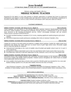 Elementary School Teacher Resume Template  Resume