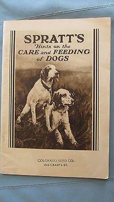 Original 1930's Spratt's Dog Care & Feeding Catalog-Denver Colorado-Pointers…