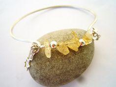 Cuff bracelet Sterling silver and Citrine cuff by Iridonousa