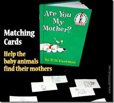 Are You My Mother? Free Printable matching cards for Mother's Day from @obSEUSSed