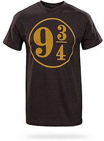 #ThinkGeek                #ThinkGeek                #Harry #Potter #T-shirt   Harry Potter 9 3/4 T-shirt                                                    http://www.seapai.com/product.aspx?PID=1806448