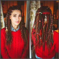 DE Synthetic Dreadlocks MIX from smooth & crochet style dreads  5 pieces = 10 end ( Just to accent your hair. )  10 pieces = 20 end (1 feather, 1 bead in set)  20 pieces = 40 end (1 feather, 1 bead in set)  30 pieces = 60 end (2 feather, 2 bead in set)  40 pieces = 80 end (2 feather, 2 bead