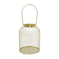 Wire Lantern Gold Ef