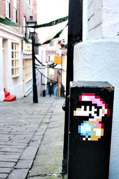 Pixel Mario - Sticker 01 by Jen-Br.deviantart.com Bristol - UK