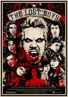 The Lost Boys #Film #Poster | http://cinematicmovieposters.blogspot.com