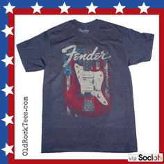 Creedence Clearwater Revival American Flag /& Guitar Adult T Shirt Rock Music