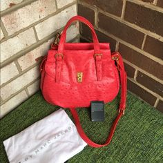 Marc by Marc Jacobs Ozzie Satchel Rock Lobster Gorgeous NWT satchel. Ostrich material. So luxurious! feel free to make an offer! Comes with dustbag. Closet Rules  Offers Welcome  No Trades No Drama  Marc by Marc Jacobs Bags Satchels
