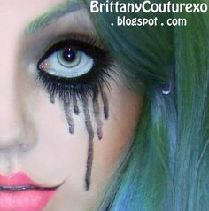 Halloween Makeup #makeup. I tried to do this for Prom Night on the BSB Cruise 2011, but I couldn't get it quite right.