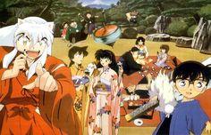 crossover InuYasha x detective conan Inuyasha, Magic Kaito, Anime Dad, Manga Anime, Haikyuu, Tenten Naruto, Detective Conan Shinichi, Detektif Conan, Anime Crossover
