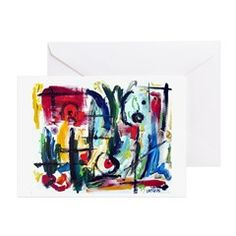 Abstract Color Whimsy Greeting Card (Pk of 10)